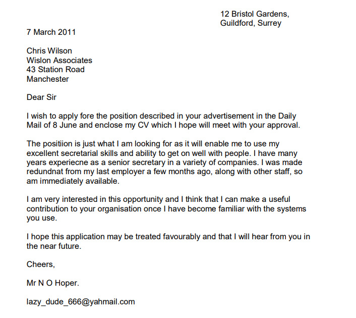 Cover letter attn sample giggle poetry how to write a poem